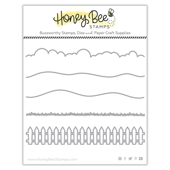 Honey Bee HORIZON SLIMLINE BORDERS Dies hbdshzsb