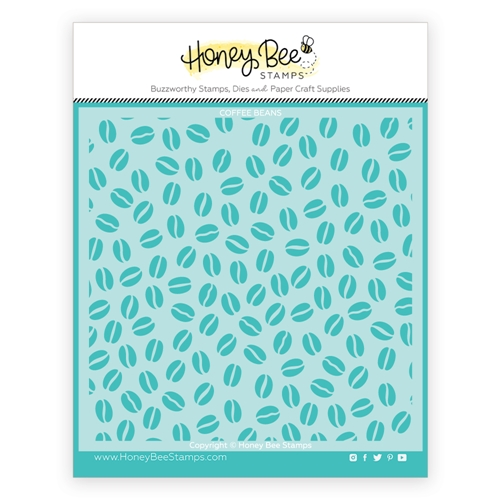 Honey Bee COFFEE BEAN BACKGROUND Stencil hbsl065 Preview Image