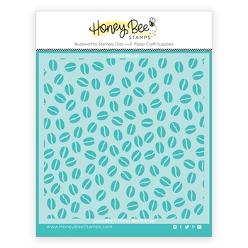 RESERVE Honey Bee COFFEE BEAN BACKGROUND Stencil hbsl065