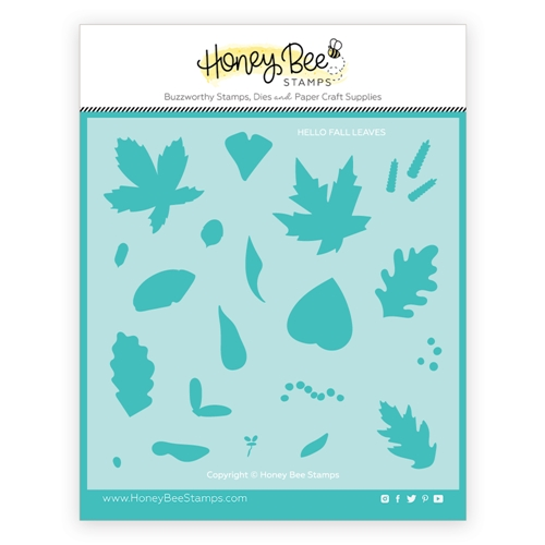 Honey Bee HELLO FALL Stencil hbsl066 Preview Image