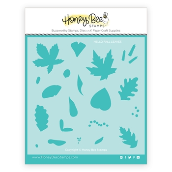 Honey Bee HELLO FALL Stencil hbsl066