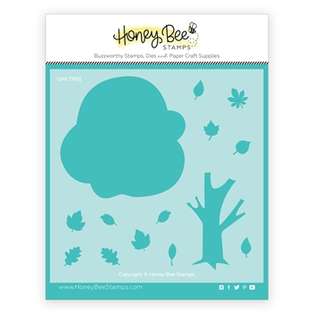 Honey Bee OAK TREE BUILDER Stencil hbsl067