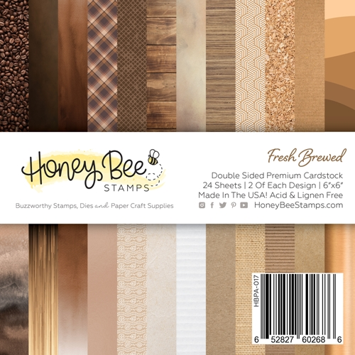 Honey Bee FRESH BREWED 6 x 6 Paper Pad hbpa017 Preview Image