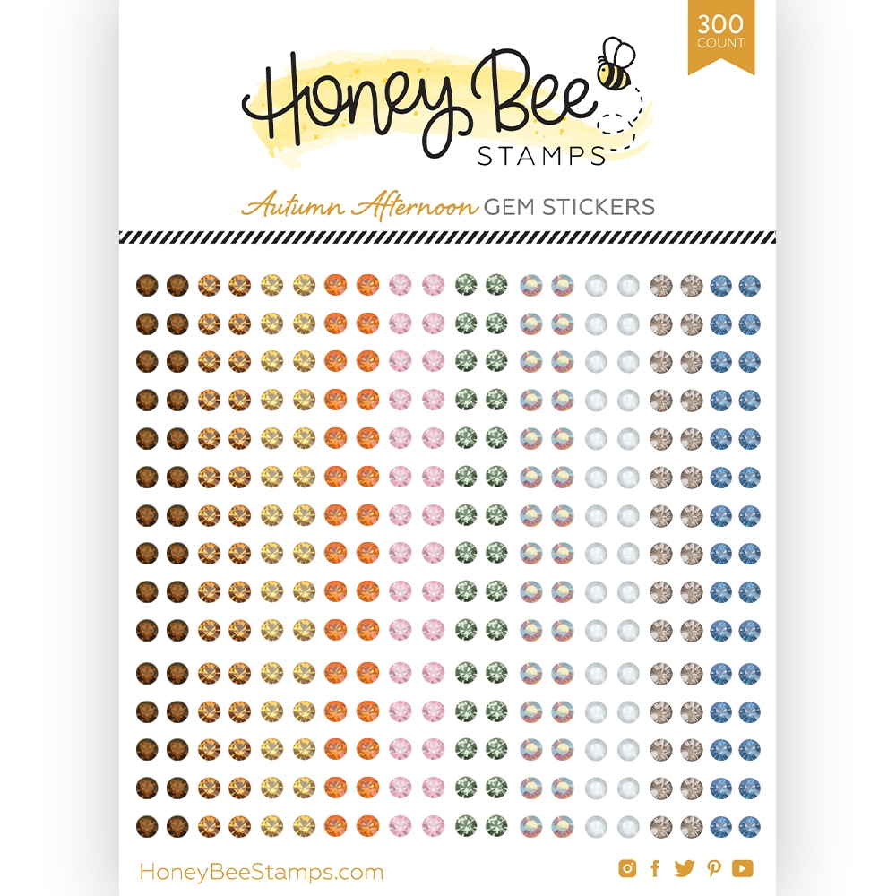 Honey Bee AUTUMN AFTERNOON Gem Stickers hbgs017 zoom image