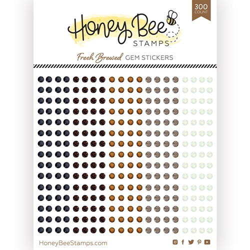 Honey Bee FRESH BREWED Gem Stickers hbgs018 Preview Image