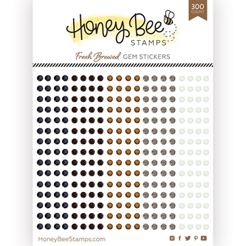 Honey Bee FRESH BREWED Gem Stickers hbgs018