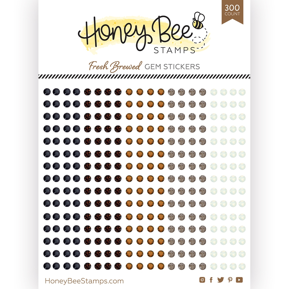 Honey Bee FRESH BREWED Gem Stickers hbgs018 zoom image