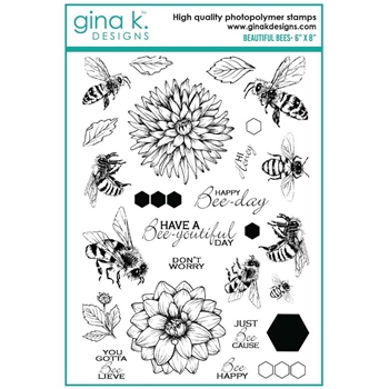 Gina K Designs BEAUTIFUL BEES Clear Stamps 6903