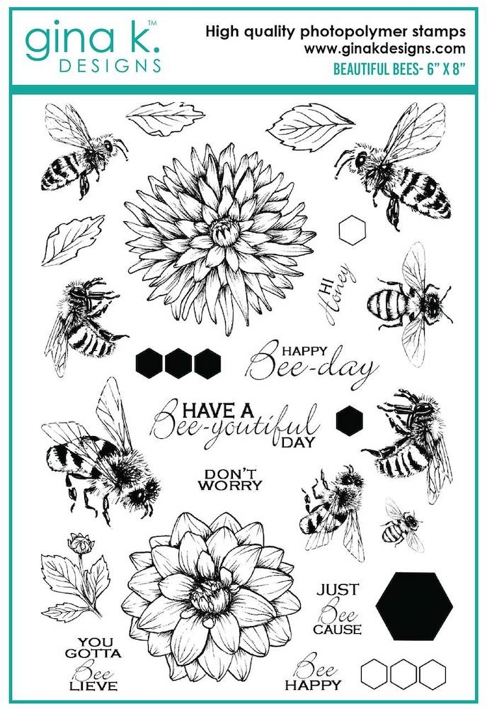 Gina K Designs BEAUTIFUL BEES Clear Stamps 6903 zoom image