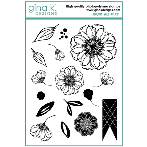 Gina K Designs BLOOMIN' WILD Clear Stamps 6927 Preview Image