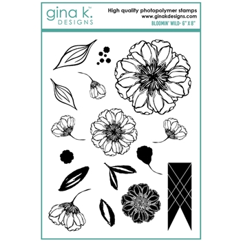 Gina K Designs BLOOMIN' WILD Clear Stamps 6927