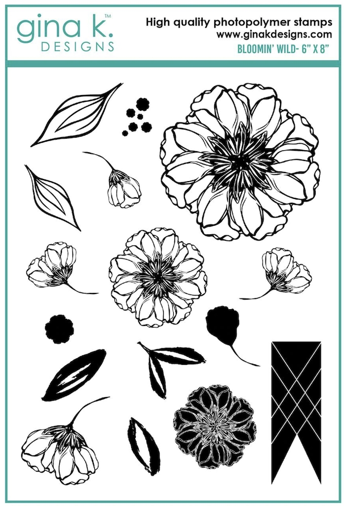 Gina K Designs BLOOMIN' WILD Clear Stamps 6927 zoom image