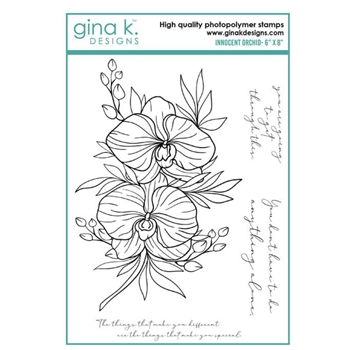 Gina K Designs INNOCENT ORCHID Clear Stamps 6958