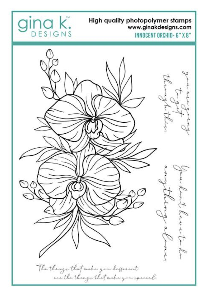 Gina K Designs INNOCENT ORCHID Clear Stamps 6958 zoom image