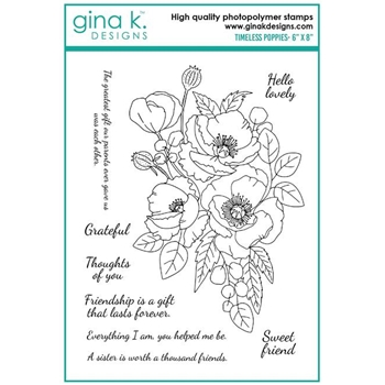 Gina K Designs TIMELESS POPPIES Clear Stamps 6965