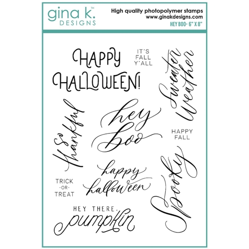 Gina K Designs HEY BOO Clear Stamps 6941 Preview Image