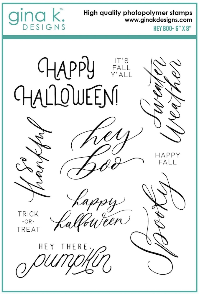 Gina K Designs HEY BOO Clear Stamps 6941 zoom image