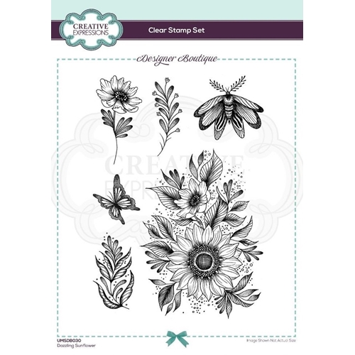 Creative Expressions DAZZLING SUNFLOWER Clear Stamps umsdb030 Preview Image