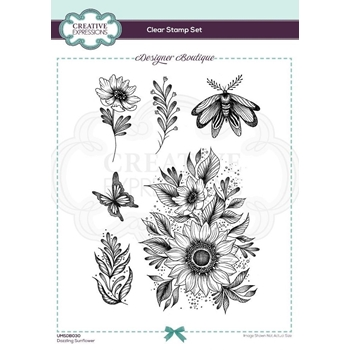 Creative Expressions DAZZLING SUNFLOWER Clear Stamps umsdb030