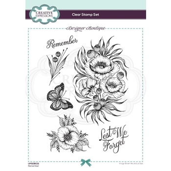 Creative Expressions REMEMBER Clear Stamps umsdb031