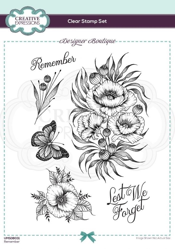 Creative Expressions REMEMBER Clear Stamps umsdb031 zoom image