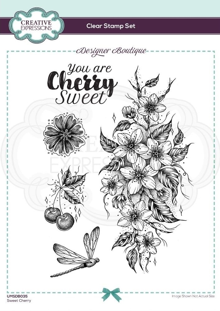 Creative Expressions SWEET CHERRY Clear Stamps umsdb035 zoom image