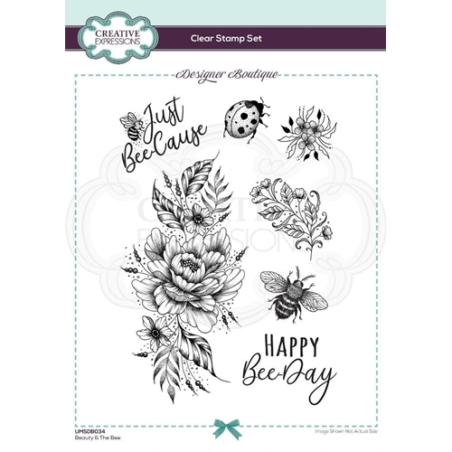 Creative Expressions BEAUTY AND THE BEE Clear Stamps umsdb034 Preview Image