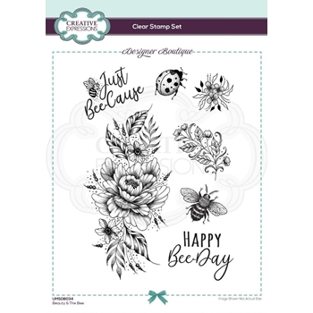Creative Expressions BEAUTY AND THE BEE Clear Stamps umsdb034