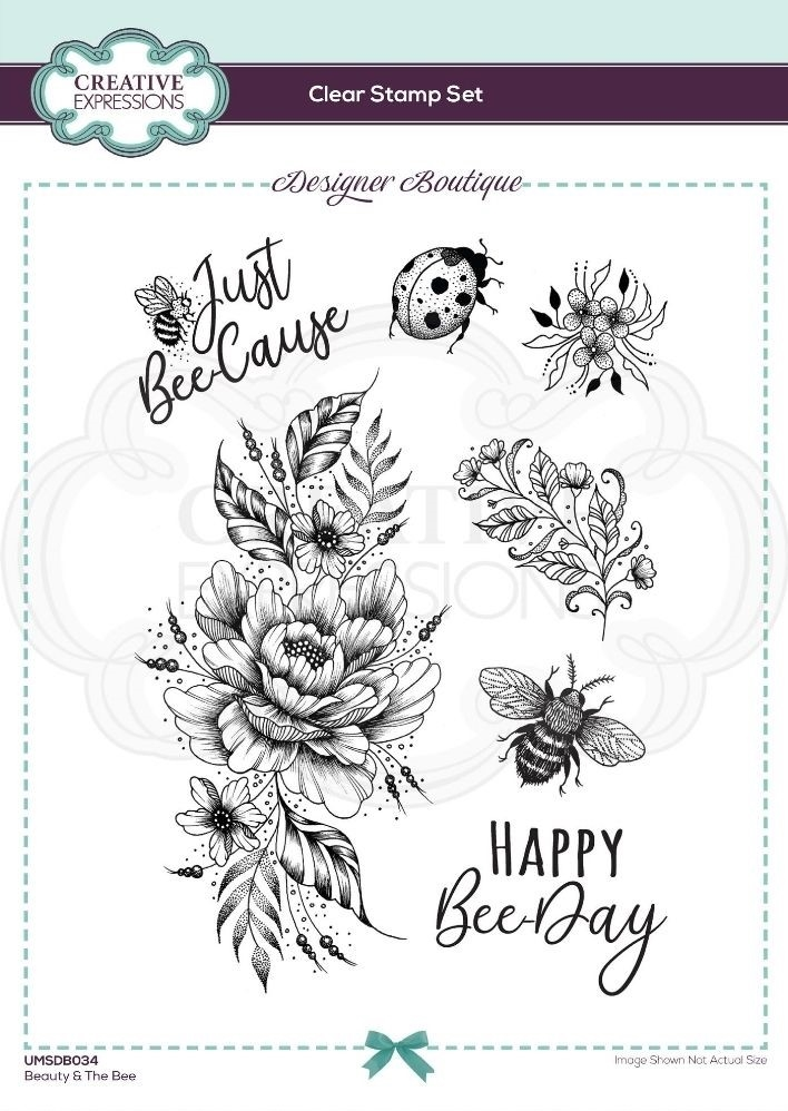 Creative Expressions BEAUTY AND THE BEE Clear Stamps umsdb034 zoom image