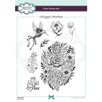 Creative Expressions WILD AND FREE Clear Stamps umsdb033