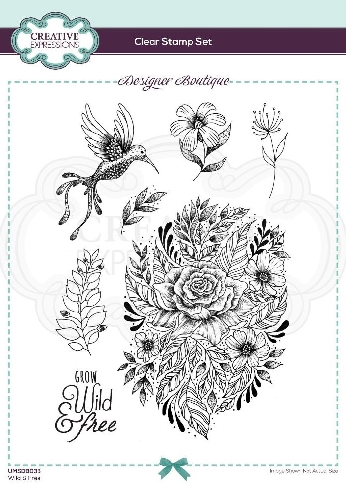 Creative Expressions WILD AND FREE Clear Stamps umsdb033 zoom image
