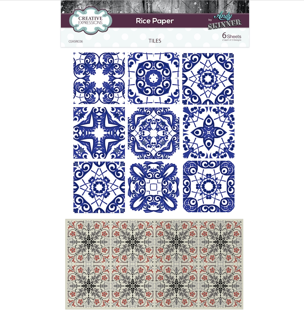 Creative Expressions TILES Rice Paper ceasric06 zoom image