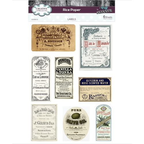 Creative Expressions LABELS Rice Paper ceasric05 Preview Image