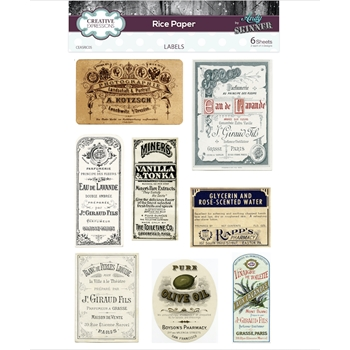 Creative Expressions LABELS Rice Paper ceasric05