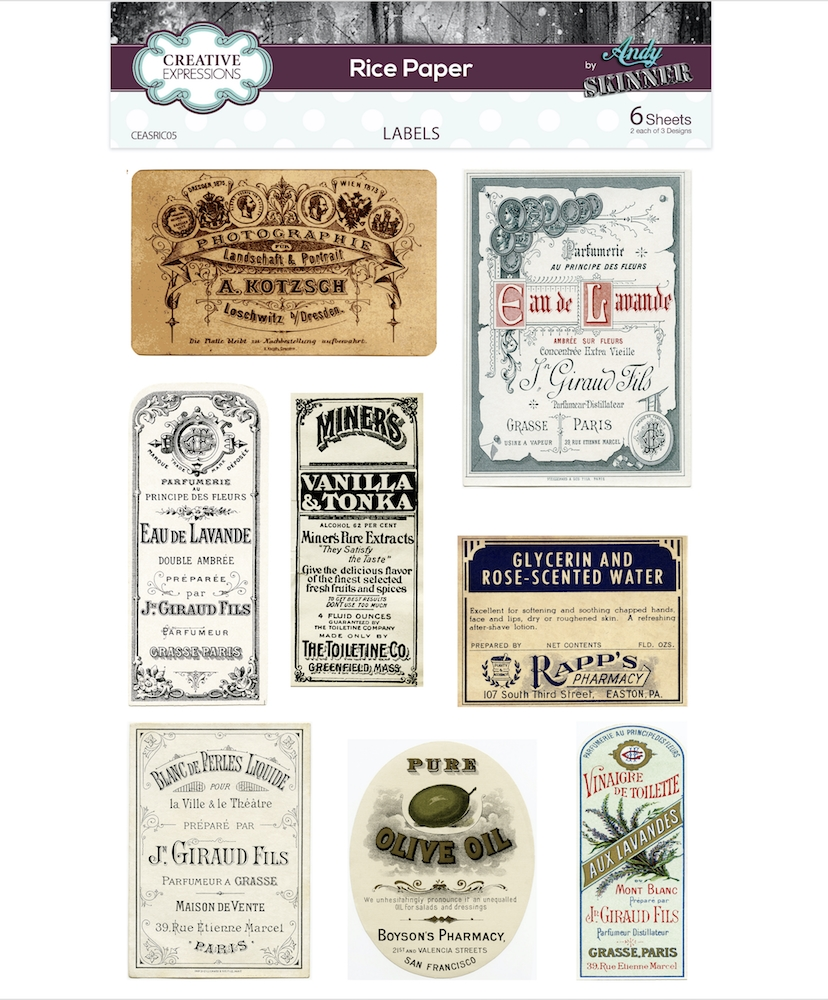 Creative Expressions LABELS Rice Paper ceasric05 zoom image