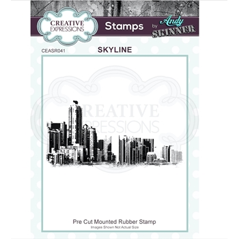 Creative Expressions SKYLINE Andy Skinner Cling Stamp ceasr041