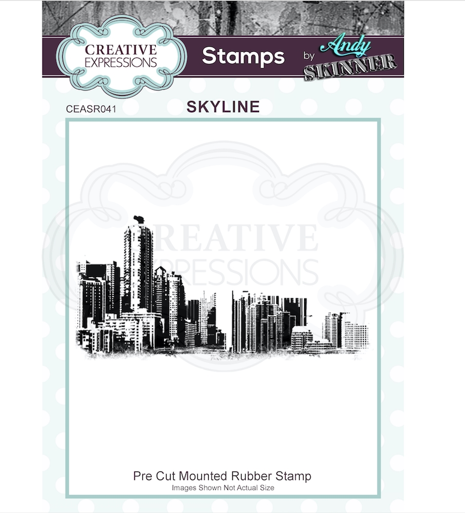 Creative Expressions SKYLINE Andy Skinner Cling Stamp ceasr041 zoom image