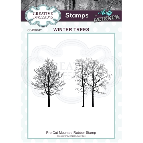 Creative Expressions WINTER TREES Andy Skinner Cling Stamps ceasr042 Preview Image