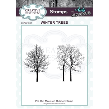 Creative Expressions WINTER TREES Andy Skinner Cling Stamps ceasr042