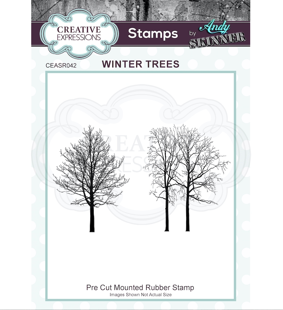 Creative Expressions WINTER TREES Andy Skinner Cling Stamps ceasr042 zoom image