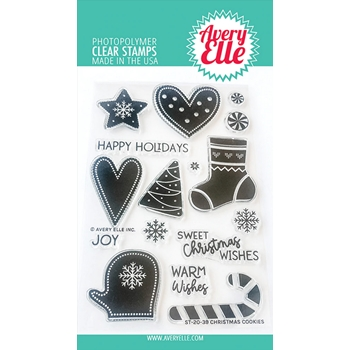 Avery Elle Clear Stamps CHRISTMAS COOKIES ST-20-39