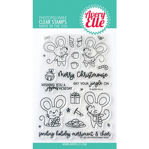 Avery Elle Clear Stamps CHRISTMAS MICE ST-20-29 Preview Image