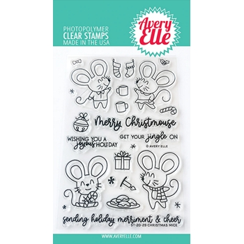 Avery Elle Clear Stamps CHRISTMAS MICE ST-20-29