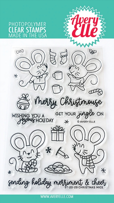 Avery Elle Clear Stamps CHRISTMAS MICE ST-20-29 zoom image