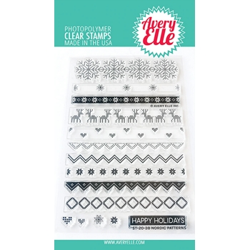 Avery Elle Clear Stamps NORDIC PATTERNS ST-20-38