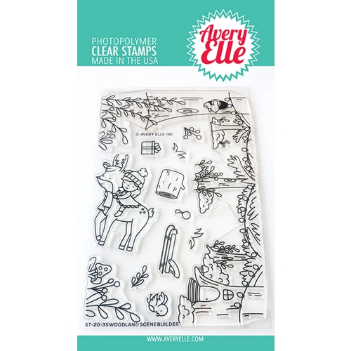 Avery Elle Clear Stamps WOODLAND SCENE BUILDER ST-20-35 Preview Image