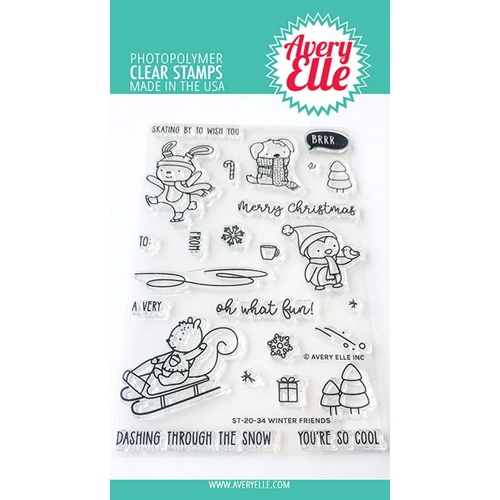 Avery Elle Clear Stamps WINTER FRIENDS ST-20-34 Preview Image