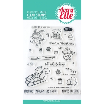 Avery Elle Clear Stamps WINTER FRIENDS ST-20-34