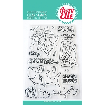 Avery Elle Clear Stamps SANTA JAWS ST-20-31