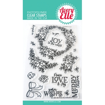 Avery Elle Clear Stamps RUSTIC WREATH ST-20-28